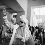 Indian groom baraat in Tenerife