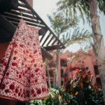 Red Indian bridal lehenga in Spain